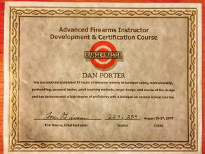 Advanced Firearms Instructor Certification